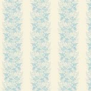 Makower UK - Something Blue - 6051 - Wreath, Striped Floral, Blue on Cream - 8827_L - Cotton Fabric